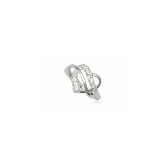 Szív alakú ezüst gyűrű fehér cirkónia kristállyal-8