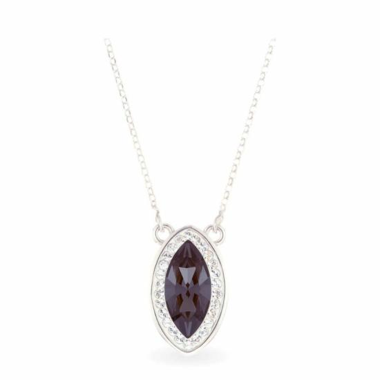 Swarovski® kristályos ezüst nyaklánc - Brilliance Queen Fekete