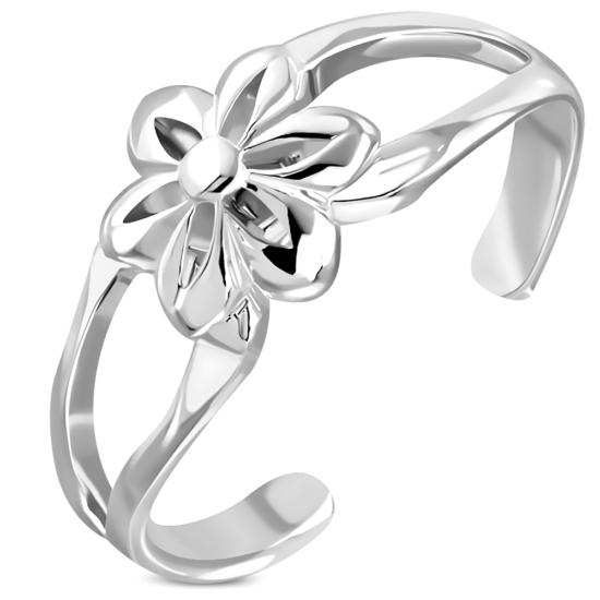Virág alakú, állítható lábujj gyűrű