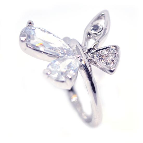 Pillangós Swarovski kristályos gyűrű