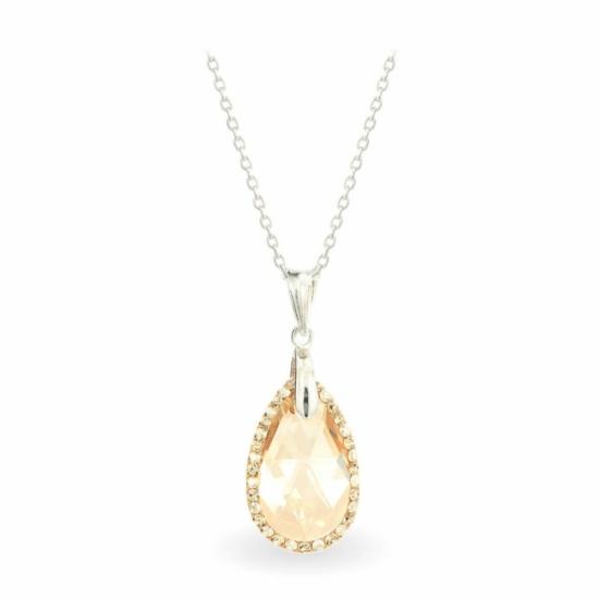 Swarovski® kristályos ezüst nyaklánc - LA MARIA Drop Gold