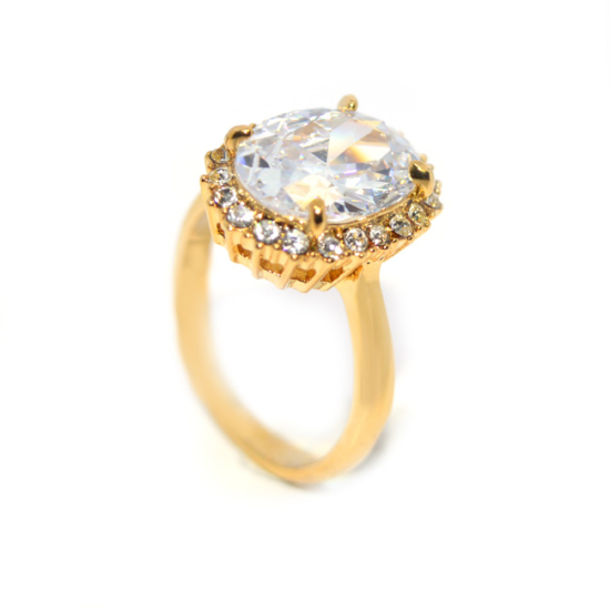 Swarovski Nagy kristályos gyűrű  -8