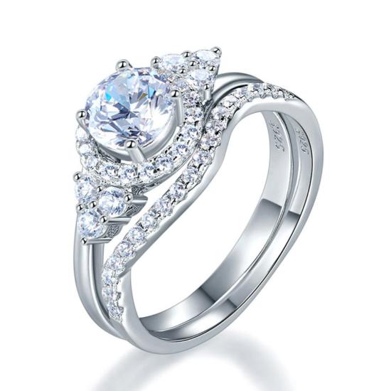 Két részből álló ezüst gyűrű