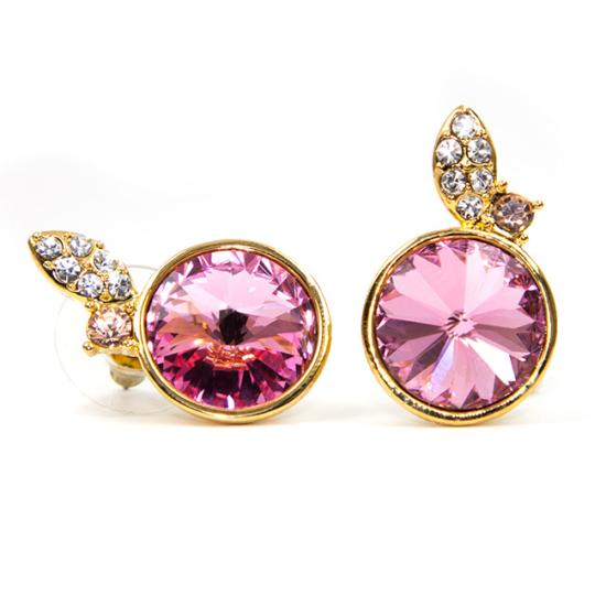 Molimo Swarovski kristályos fülbevaló - Pink