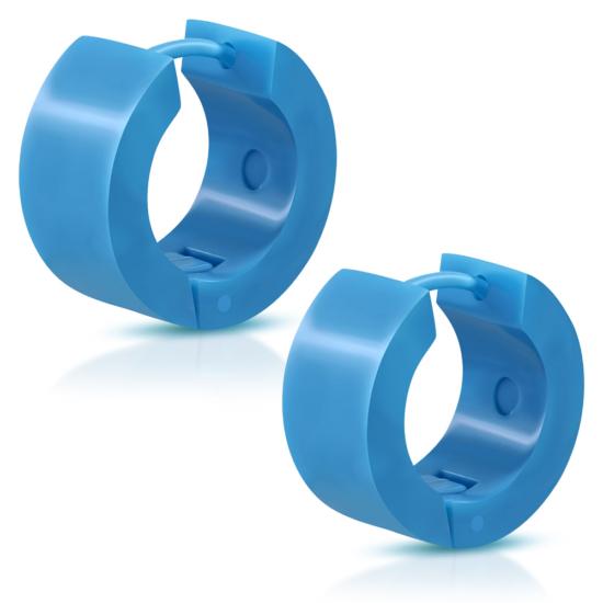 Kék színű polimer anyagú fülbevaló