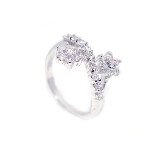 Swarovski kristályos , csillagos gyűrű