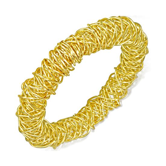 Arany színű merev karkötő
