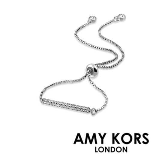 Amy Kors London® Luna Terro - Ezüst színű karkötő cirkónia kristályokkal