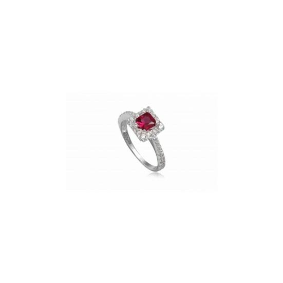 Ezüst gyűrű pink cirkónia kristállyal-6