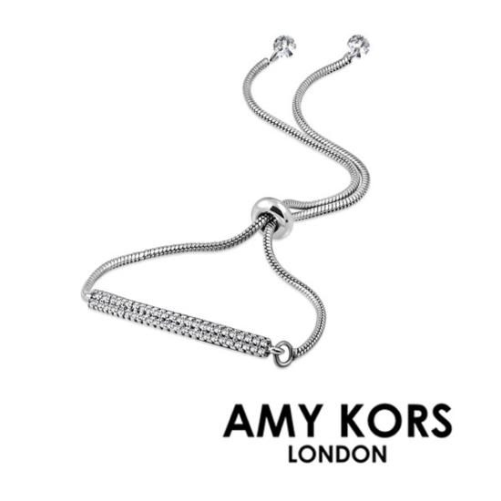 Amy Kors London® Luna Kelne - Ezüst színű Karkötő cirkónia kristályos dísszel