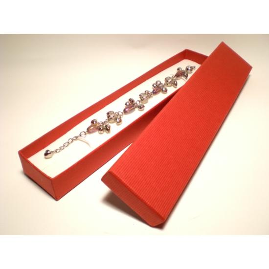 Piros színű karlánc és nyaklánc ékszertartó doboz nyaklánc, karlánc