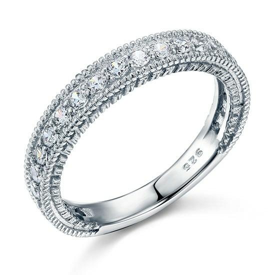 Ezüst gyémánt gyűrű-10
