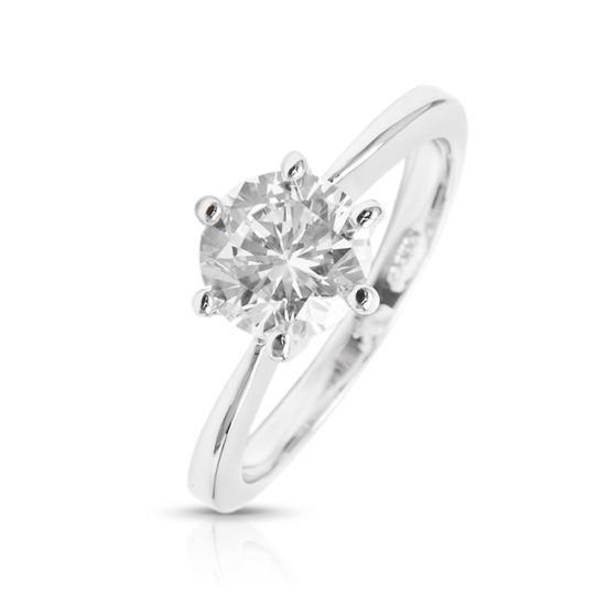 Swarovski kristályos gyűrű Kerek kristállyal -7