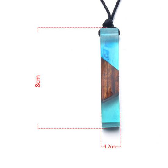 Resin - Egyedi kézzel készült gyanta medállal díszített nyaklánc - Kék